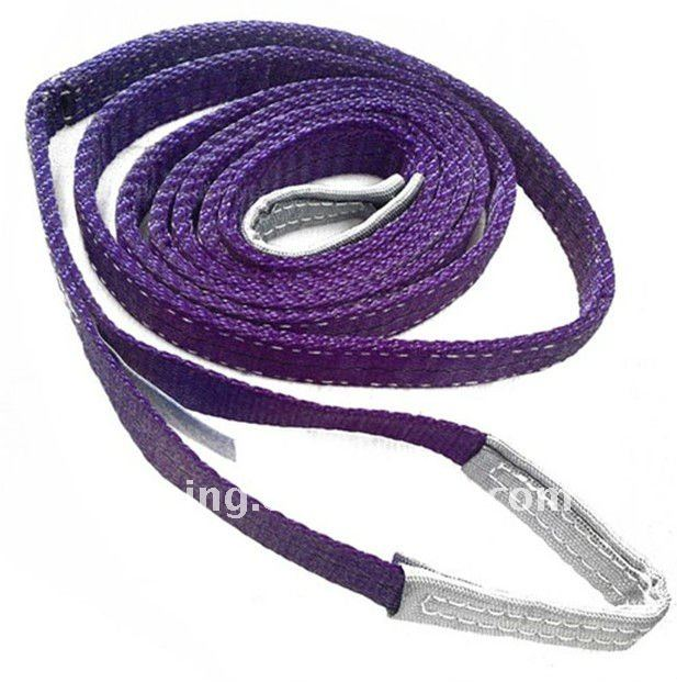 Polyester Flat Web Lifting Slings Belt slings with reinforced eyes