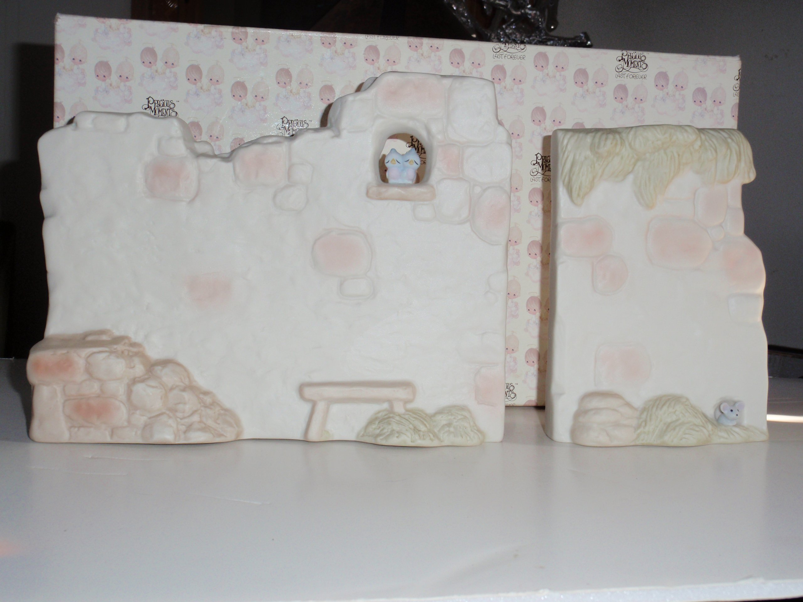 Precious Moments Two Section Nativity Wall Christmas Holiday Set (LARGE E 5644)