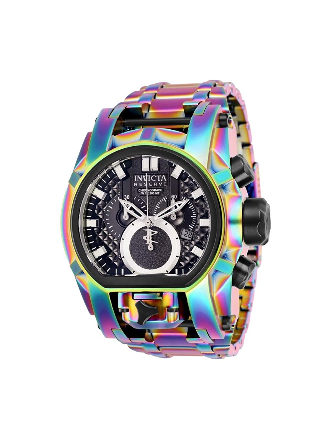 Invicta Reserve Men's 52mm Bolt Zeus Magnum Swiss Quartz Dual Movement Iridescent Bracelet Watch
