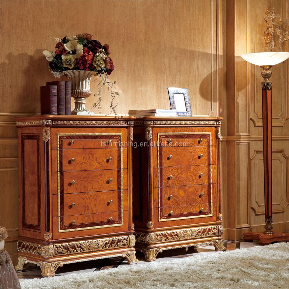 Yb62 Lujo Antiguo De Madera Maciza Estilo Italiano De Noche Mesita  # Muebles Postmodernos