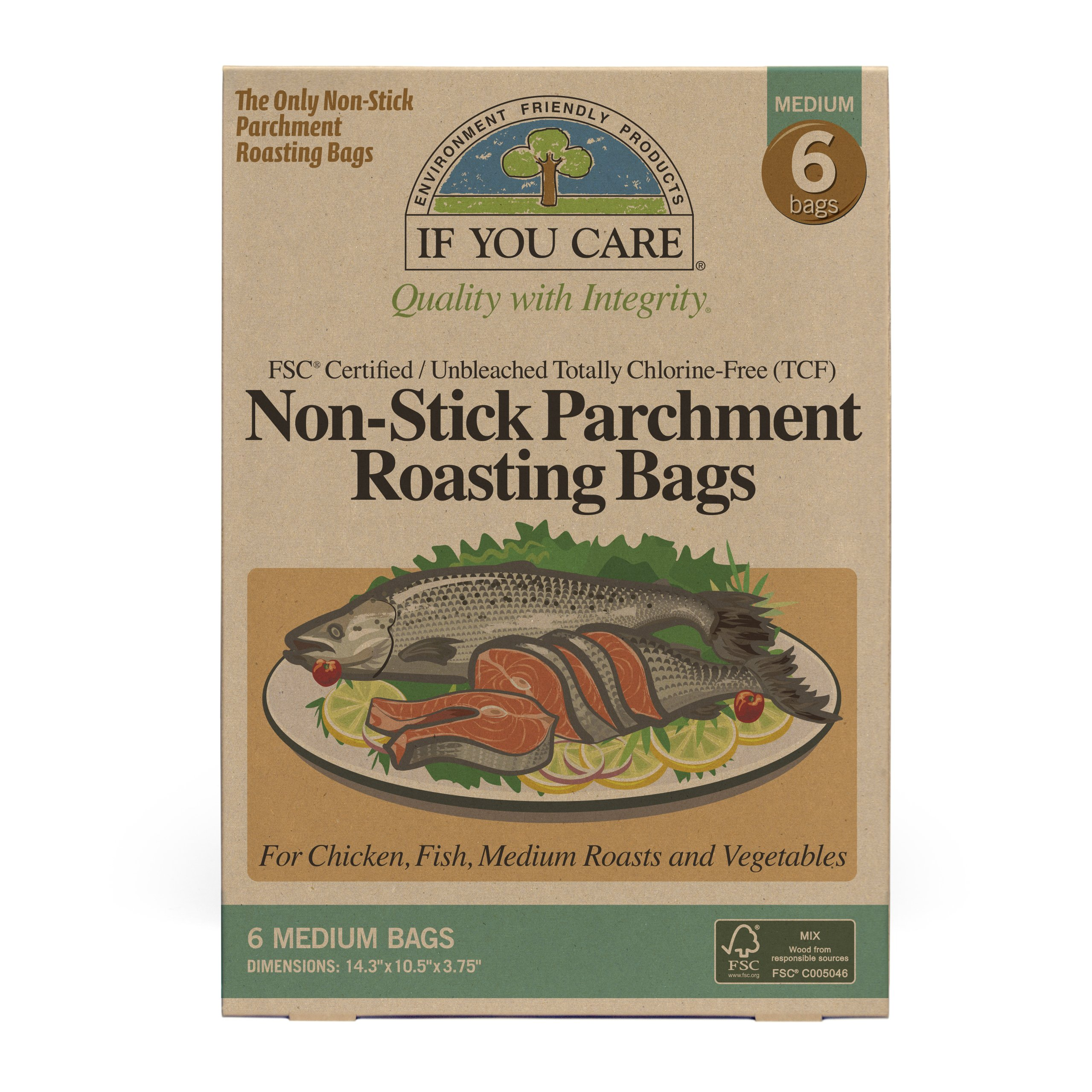 IF YOU CARE Non-Stick Parchment Roasting Bags, Medium