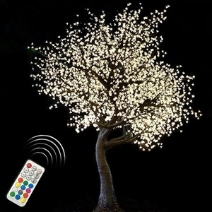 2.8m super quality outdoor cherry blossom christmas decoration flowers wedding artificial RGB color changing led tree light