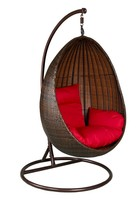 indoor hanging chairs egg style steel frame wicker patio furniture