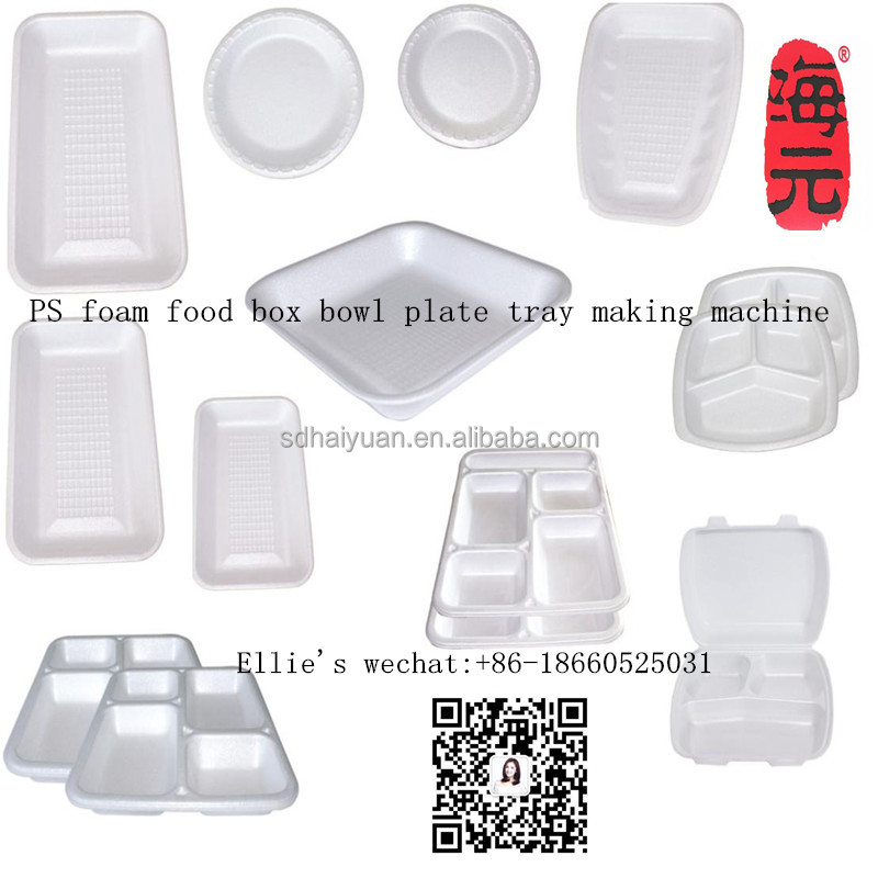 10% price off! eps ps foam thermocol plate take away food plate making machine/ disposable food box bowl tray production line