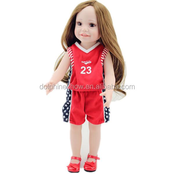 Cute American Girl Doll Long Real Hair Vinyl Pretty Girl ...