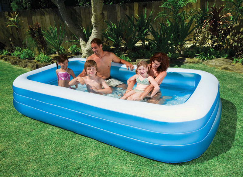 intex 58484 big size 305 183 56cm blue and white above ground pool family pool swimming pool. Black Bedroom Furniture Sets. Home Design Ideas