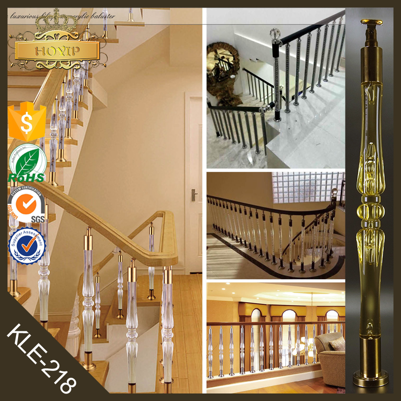 acrylique cristal escalier garde corps con oit couleur d 39 or escalier main courante escalier. Black Bedroom Furniture Sets. Home Design Ideas