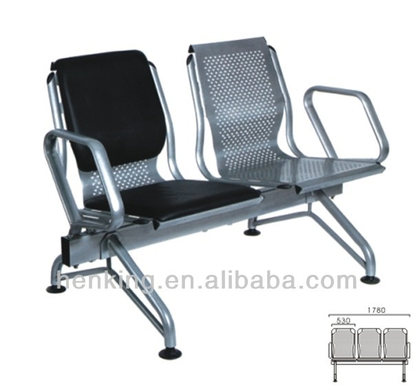 high quality waiting chair H308-2/ steel chair for waiting room
