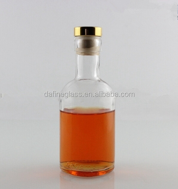 200ml empty absolut vodka glass bottle with cork top