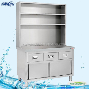 Bar Metal Kitchen Bench Cabinet Drawers with Over Shelf/ Stainless Steel Kitchen Centre Tea Cabinet/Freestanding Kitchen Cabinet