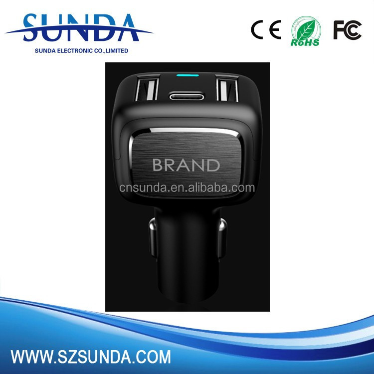 Qualcomm Certificate type-c car charger with QC 3.0 car charger