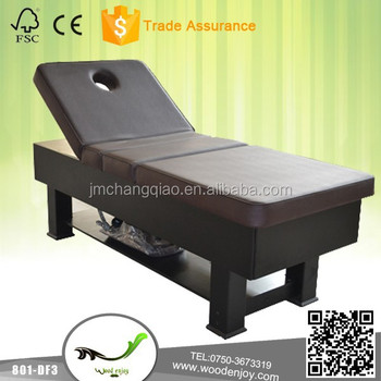 Soild wood massage bed 801-DF3, electric facial massage bed