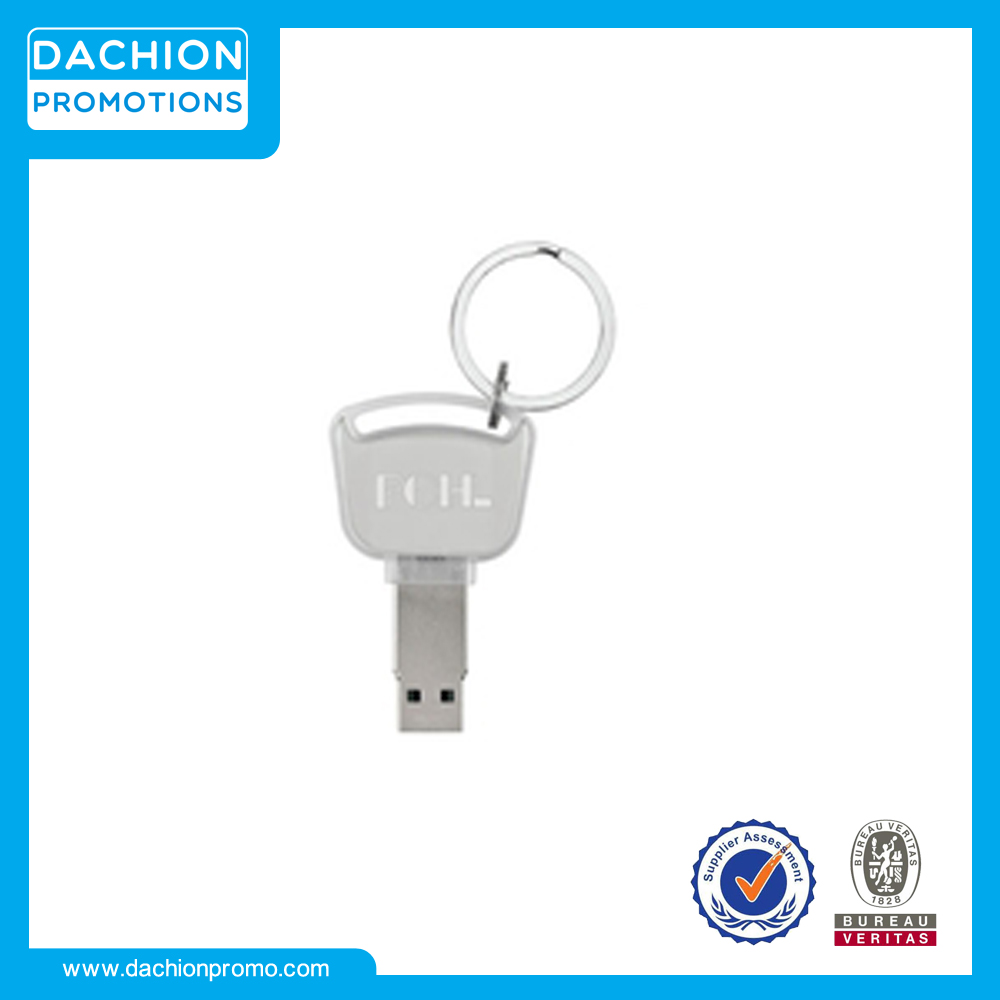 Customized Logo Light-Up Imprinted USB Drive Key Chain