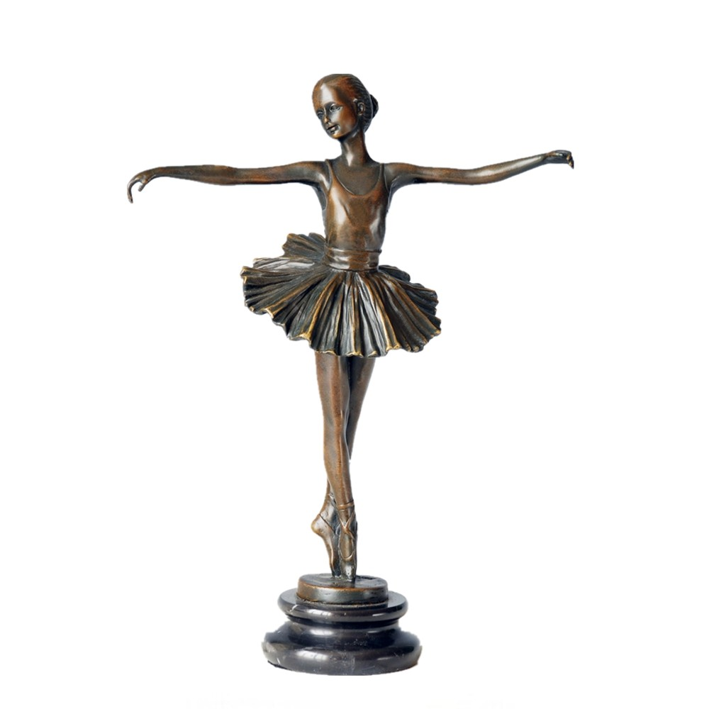 Art Nouveau Home Decor Bronze Tutu Ballerina Sculpture Statue Figurine Figure