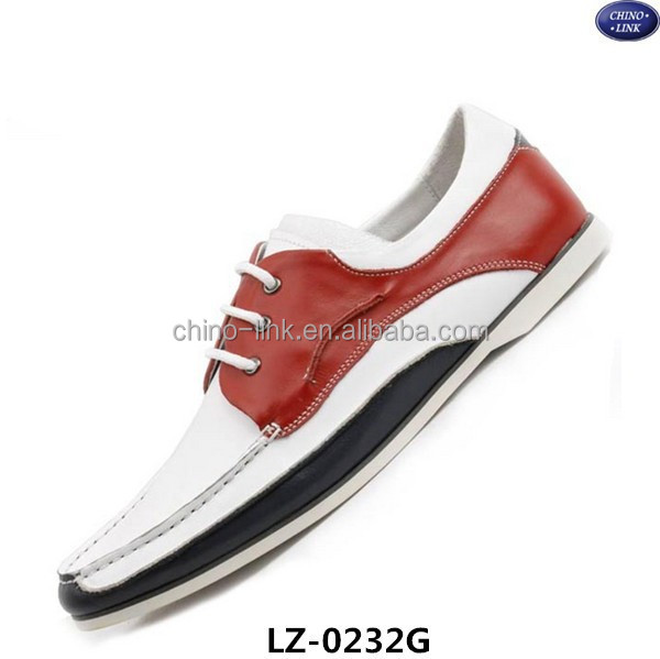 2015High-grade fashionable loafers lace up deck shoes men boat shoes