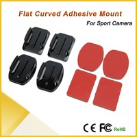 Flat Curved Adhesive Mount Helmet Accessories For Go pro 1/2/3 /3+ Kit XIAOYI Action Cam