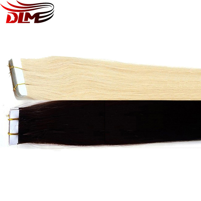 High Quality Human Hair No Shedding No Tangle 100% Human Hair Extension 40 pieces Hand Tied pu skin weft