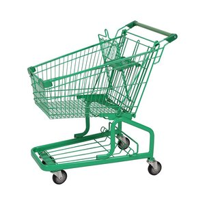 Supermarket Smart Shopping Trolley Cart With Small Wheels