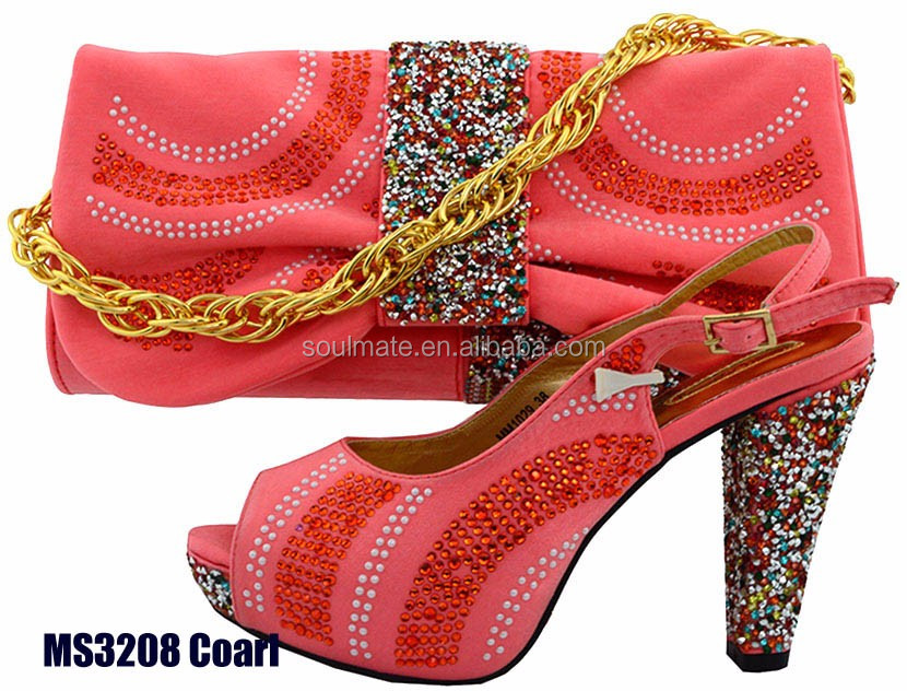 shoes hand and rhinestone and Yellow set high heels shoes wedding bag bags women 6BPSq5w