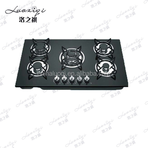 Best quality portable induction gas hob 5 burner tempered glass cooker