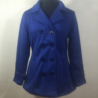 Women's mid-length long fleece coat