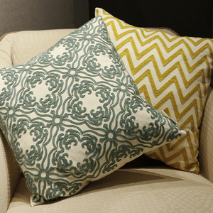 Home Textile wholesale embroidered cushions home decor pillow