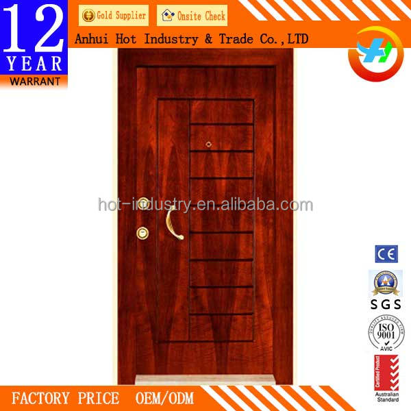 Simple New Armored Security Steel Door Wholesale Price China Popular Flat Metal Door High Quality Main Door Design