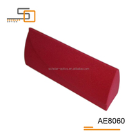 Hot sell high-quality red magnet hand made eyewear frame glasses case