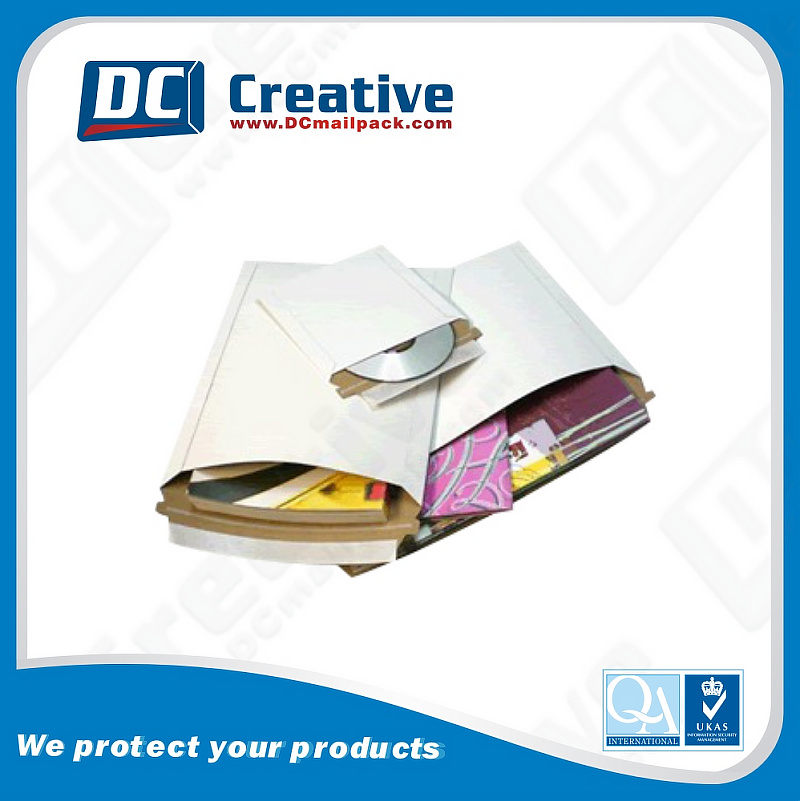 Customized printed rigid shipping document mailers envelopes
