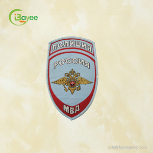 Sew On Custom Design Name Applique Fabric Embroidered Shoulder Badges for Army Uniforms or Caps