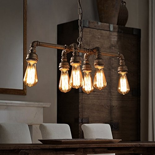 Water Pipe Retro Loft lamp ocean metal lighting housing pendant lamp