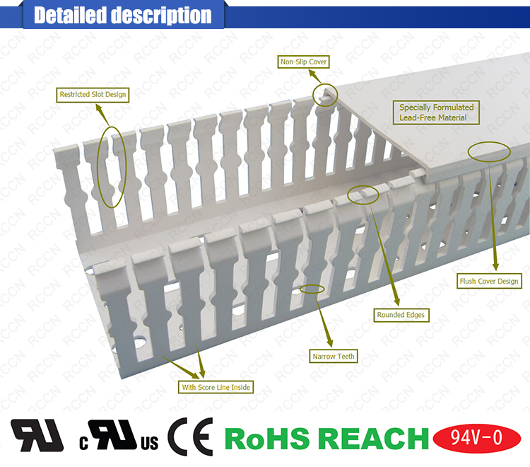 China Manufacturer Pvc Cable Trunking Perforated Tray