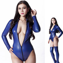 MOON BUNNY Sey 200D Late Sey Bodysuit Catsuit Thong Body Suits For Women Long Sleeve Club Wear Bodies High Cut Night Dance Wear