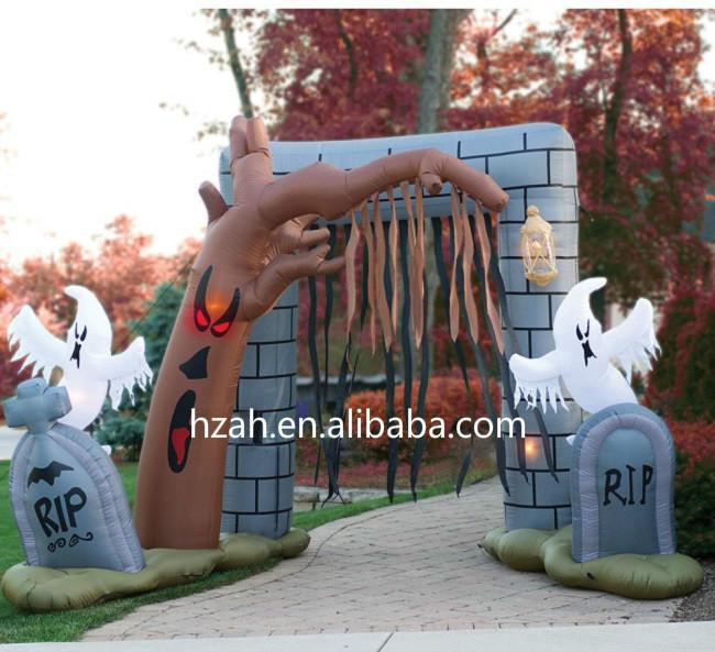 halloween yard decoration inflatable graveyard archway buy halloween inflatable archway