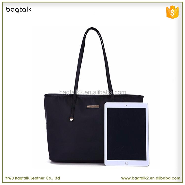 bac203098931 1HD0017 Công Suất Lớn Màu Đen Đồng Bằng Shoulder Bag Ladies Nylon Túi Xách  Tote Túi