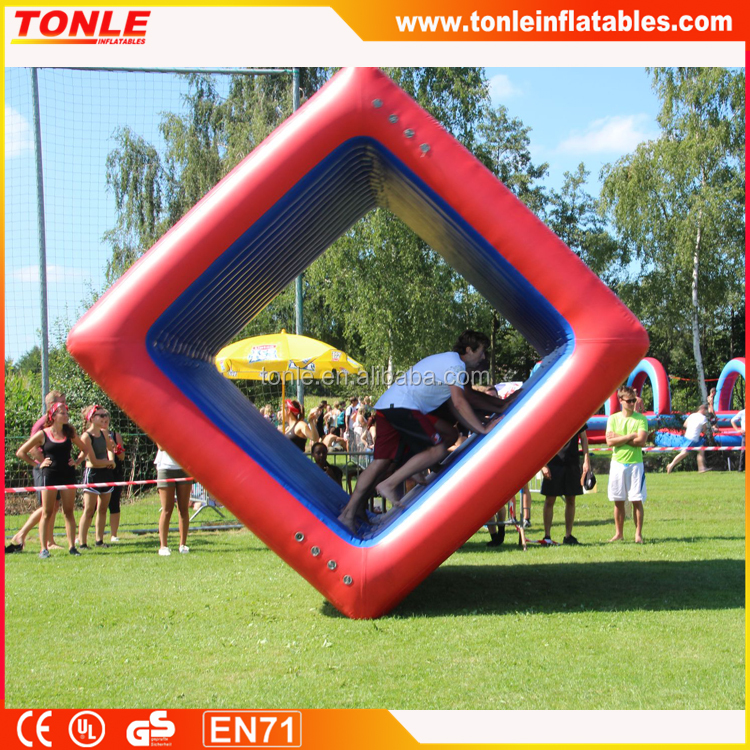 commercial inflatable human flip it team game for sale