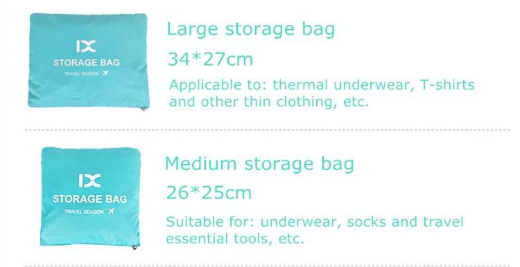 7 pièce Divers Taille Bagage Emballage Cubes Organisateur De Voyage Sacs En Filet
