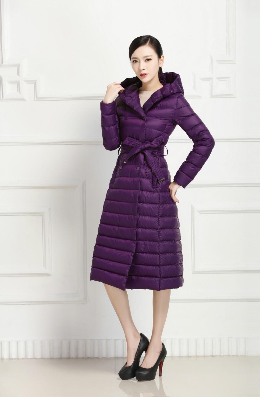 European Style Shiny Full Length Down Coat - Buy Full Length Down ...
