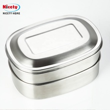 304 rvs 2 layer metalen lunchbox met <span class=keywords><strong>compartiment</strong></span>