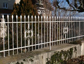 Hot Dip Galvanized White Wrought Iron Fence