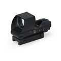 New Style Tactical 1X Magnification 4 Reticle Mini Red Green Dot Scope For CS Wargame Hunting