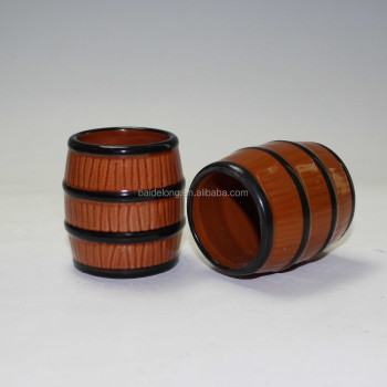 Ceramic Barrel Shot Glass