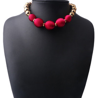 Fashion New Silk Thread Wrapped Ball Chain Necklace For Women