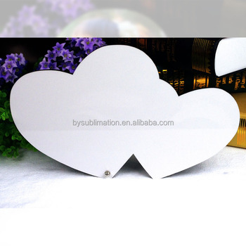 Sublimation Mdf Picture Double Heart Love Photo Frame - Buy Double ...