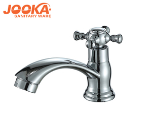 Cheap bathroom polished basin faucet/cold water taps