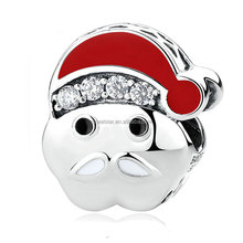 White beard Santa with red hat DIY string pure beads