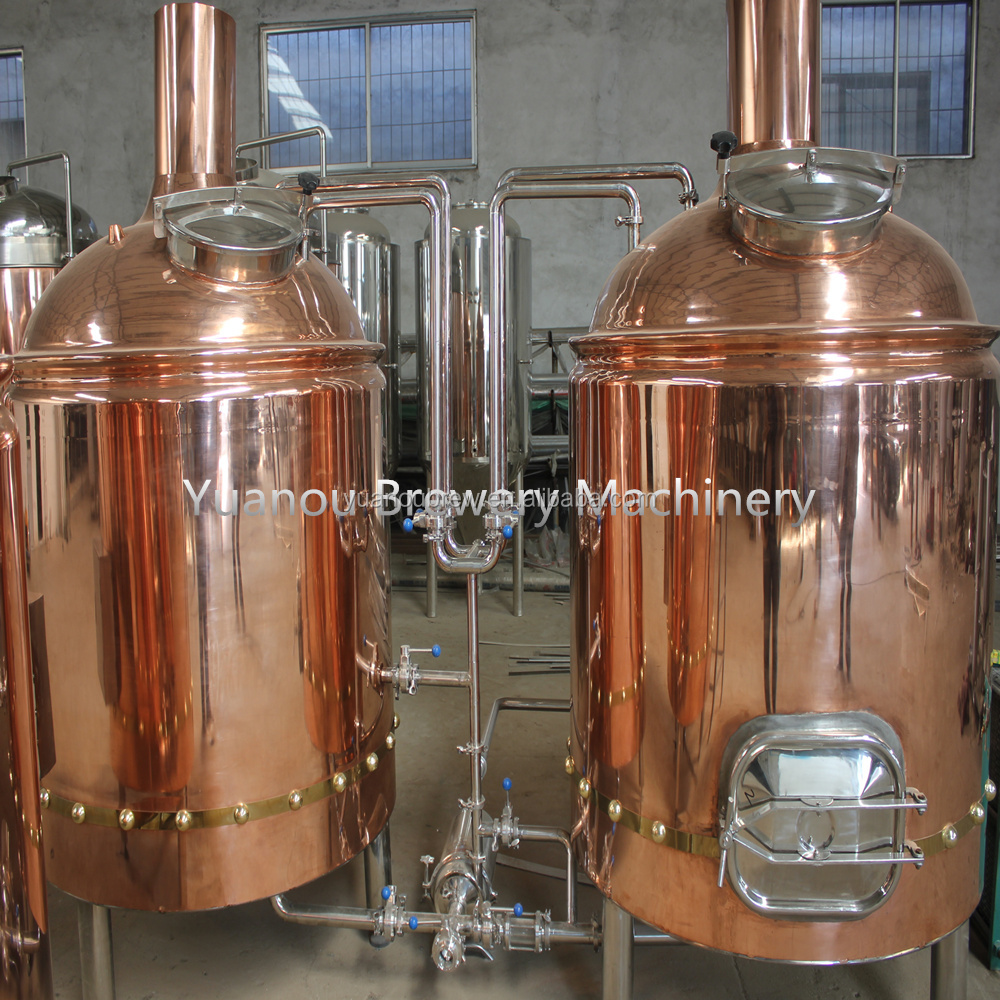 400L red copper beer mash tanks for pub brewery system