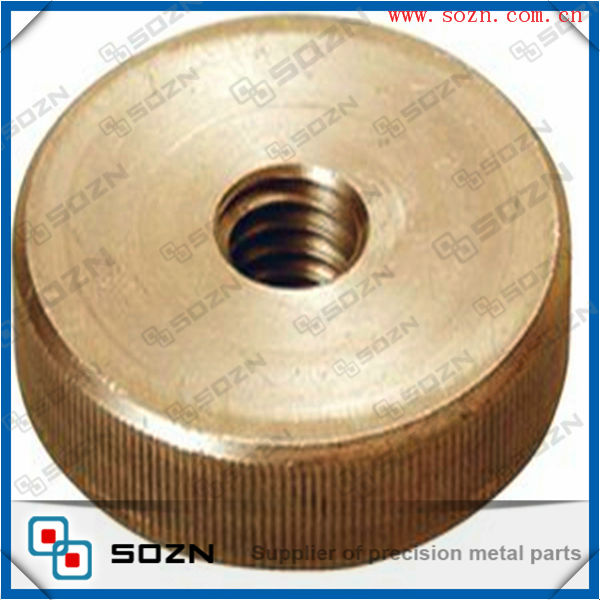 M6 X 1 Brass Din 467 Low Form Knurled Nut