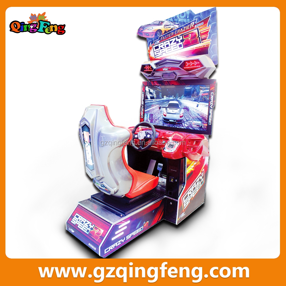 Qingfeng 2017 carton fair 42 inch adventure island indoor simulator racing car game machine