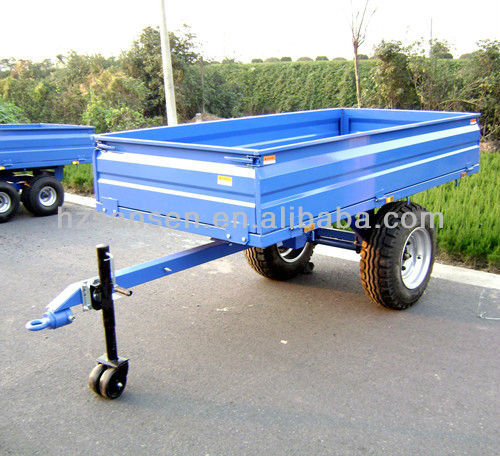 Small Farm Trailer , Box Trailer for tractor, hydraulic dump trailer 1.5ton